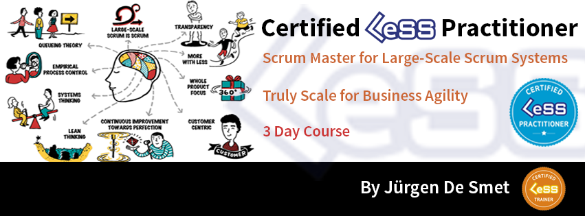 Certified LeSS Practitioner - Large-Scale Scrum Systems training by Jurgen De Smet