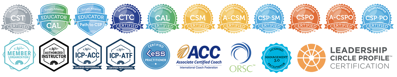Certifications Agile Scrum Coaching Leadership